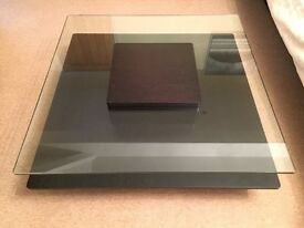 Glass and wood coffee table from Italy