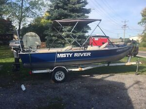16.5' Misty River with 30hp Evinrude