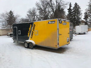 Triton 28 ft enclosed snowmobile trailer