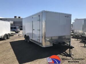 CROSS ALPHA 8.5 X16 ROUND FRONT TANDEM CONTRACTOR TRAILER 2017