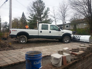 2007 Ford F-350 Pickup Truck 4x4 Diesel crew cad almost new plow