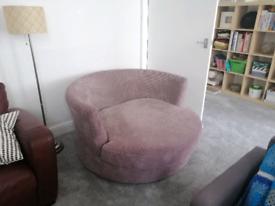 Cuddle swivel chair fawn brown