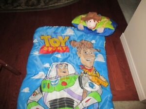 Toy Story sleeping bag and pillow