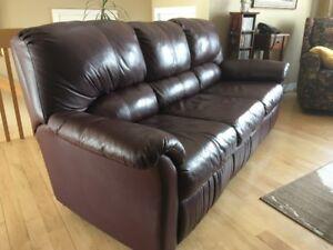 Sofa 3 places en cuir à vendre