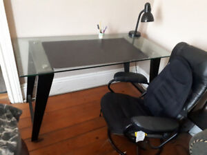 Glass Desk and Chair, Best offer, Needs to be gone by Thursday!