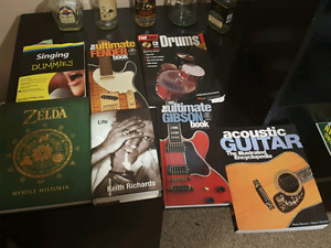 Music and video game books.