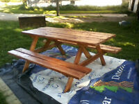 S.B. Wood Products- Picnic tables,benches,etc.