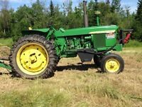 4020 JD tractor and implements