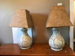Set of large table lamps