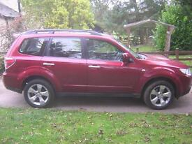 DIESEL, 2010 SUBARU FORESTER XC, 4X4 , 2.0 DIESEL, 5 DOOR, RED METALLIC.