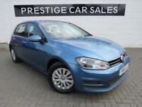 2014 Volkswagen Golf 1.6 TDI S (s/s) 5dr Diesel blue Manual