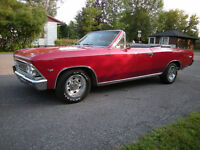 --REDUCED--RARE 1966 CHEVELLE MALIBU CONVERTIBLE-ROTISSERIE REST