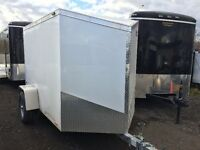 CARGO TRAILER 5X8 V-NOSE ENCLOSED ALL ALUMINUM