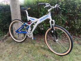 High end retro Specialized fsr full suspension mountain bike