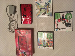 3DS XL Pokemon x & y red edition. 5 games included