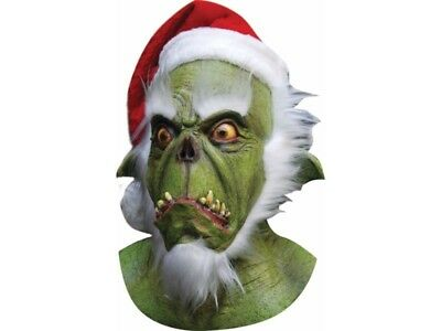 The Grinch Mask For Adults Full Face Christmas Cosplay Costume Party Props