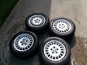 E36 BMW rims with snow tires