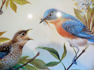 Bluebirds by Bernard Martin Signed Limited Edition Print