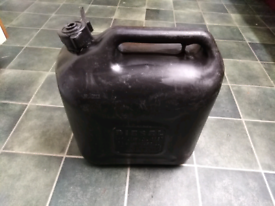 10 litre diesel petrol plastic Jerry can container. £8