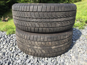 Two 235/55R17 Summer Tires Excellent Tread 75%