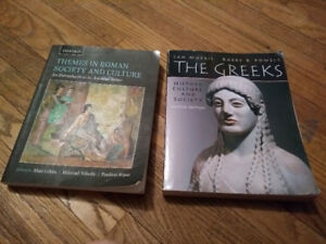 The Greeks: history, culture and society AND Themes in Roman Soc