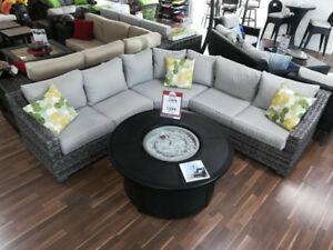 Resin Wicker Sectional Blowout