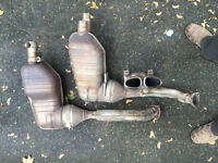 Mufflers and stainless tip for 2008 Boxster S