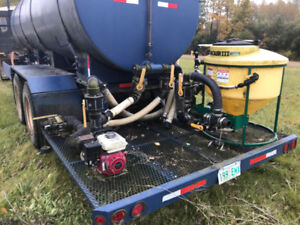 3,900 Gal Water Trailer and Poly Tank