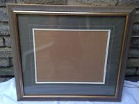 Frame with matte...made at framing studio