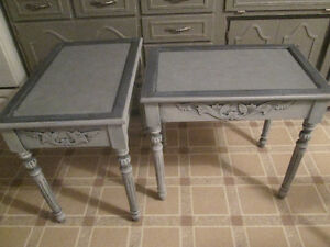 Matching modern refinished end tables