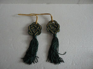 Brand new set of 2 green hanging tassels London Ontario image 2