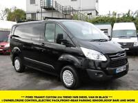 2013 FORD TRANSIT CUSTOM 270 TREND SWB IN BLACK WITH ONLY 35.000 MILES,CRUISE CO