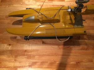 remote control model boat with accessories and maual