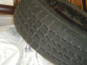 Snow tires, excellent condition with rims Kitchener / Waterloo Kitchener Area image 1