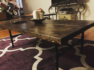 Rustic Coffee Table, Chunky wood coffee table, industrial