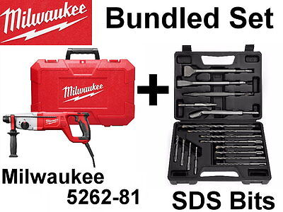 New Milwaukee 5262-81 Sds Plus Rotary Hammer Chisel Drill Bits Kit Set 5262-21