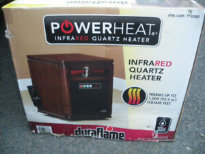 New in box. Quartz Infrared Space Heater with Remote Control