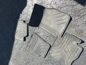 BMW car mats and plate