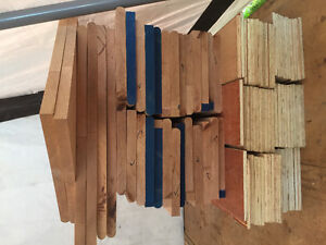 Oak unfinished stairs treads and risers