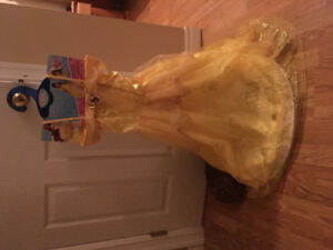 Disney Belle dress size 7-8.  Never worn