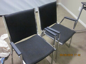2 Nice black reading or multiple use chairs for sale. New