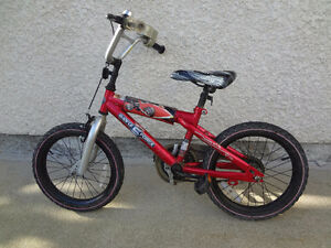 $90 - Hot Wheels 16'' Bike with training wheels.