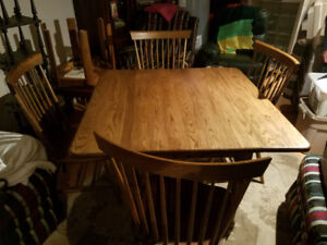 Kitchen dining table custom made solid oak