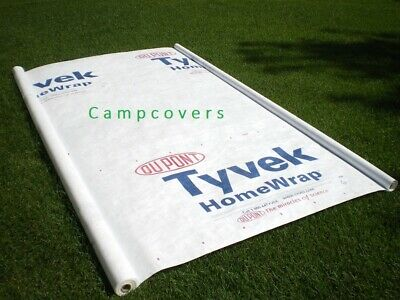8 X 6 Ft Tyvek House Wrap Paper Underlayment Siding Wall Insulation Mold Protect