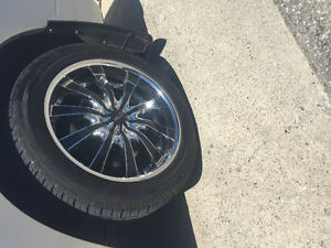 22 Inch Helo Rims with Falken Tires