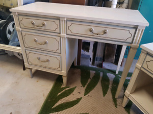 Desk night stand and mirror