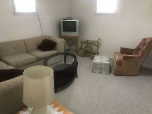 FURNISHED...Large, Bright...Just Painted - 1 BR Basement Suite i
