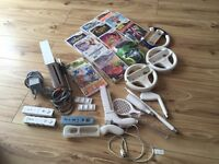 WII with 12 games an accessories (£70 or offers)