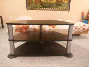 3 layer wooden black tv stand