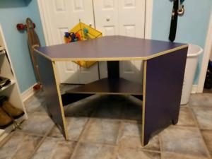 FREE IKEA Blue Corner Desk